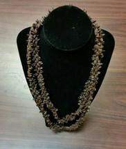 "Vintage 1960'S Hawaiian Koa Seed 45"" Necklace Jewlery - $14.84"