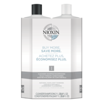 Nioxin System 1 Cleanser, Scalp Therapy Liter Duo 33.8 oz - $54.62+