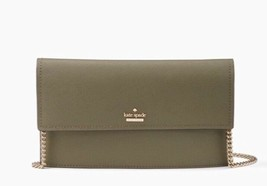 Kate Spade Leather Crossbody Clutch Cameron Street Brennan Olive Retail ... - $165.01 CAD