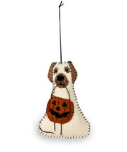 Bethany Lowe Halloween Spooky Ghost Dog Felted Wool Fabric Ornament Decoration - $4.95