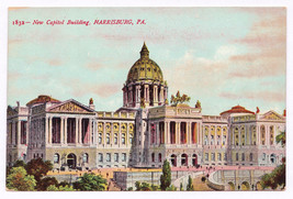 1907-1915 New Capitol Building Harrisburg PA Antique Early View German P... - $7.38