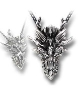 SteamPunk Victorian Alchemy Gothic Dragon Skull Pendant Necklace, NEW UN... - $29.94