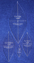"""4 Piece Quilting Leaf Templates 1/4 """" w/ Center Hole & Cross Hairs -Acrylic - $31.99"""