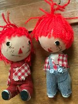 Vintage Pair Lot of Raggedy Ann & Andy Christmas Tree Ornaments – made in Hong  image 3