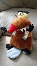 "Angry Beavers Daggett Doofus Nickleodeon New Licensed Plush Stuffed 10"" Nanco - $59.99"