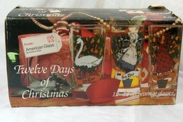 Indiana Glass 12 Days of Christmas Boxed Set Of 12 12 oz Tumblers #2350 - $26.99