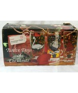 Indiana Glass 12 Days of Christmas Boxed Set Of 12 12 oz Tumblers #2350 - $25.19