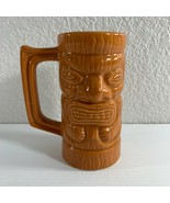 "Don Q Tiki Totem Mug Hawaiian Orange Handled Cup 5 3/4"" Tall USA - $14.85"