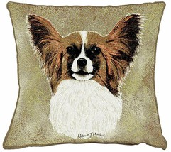 "Papillon Pillow Pure Country Weavers 17"" x 17""  100% Cotton Dog Breed - $19.50"