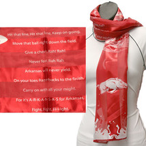 Arkansas Razorbacks Officialy Licensed Ncaa Fight Song Scarf - $9.50