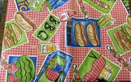 "FLANNEL BACK VINYL TABLECLOTH 52"" x 104"" (8-10 people), BBQ ITEMS by AP - $17.81"