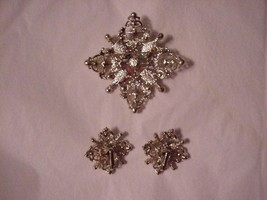 "Vintage Sarah Coventry Brooch and Earrings Set ""Galaxy"" Gorgeous - €50,82 EUR"