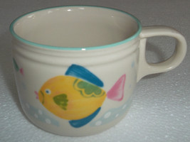 1992 Flat Cup Barrier Reef Collectible Stoneware by STUDIO NOVA - $11.99