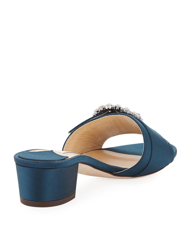 Jimmy Choo Granger Satin Slide Sandals 37