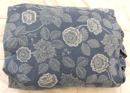 Ralph Lauren Lrl Fitted Sheet Americana Floral Blue Cottage Country Chic Queen - $99.95