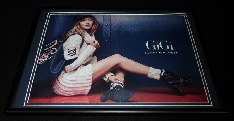 Gigi Hadid Framed 12x18 ORIGINAL 2016 Tommy Hilfiger Advertising Display