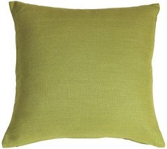Pillow Decor - Tuscany Linen Apple Green 18x18 Throw Pillow - $29.95