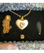 Joan Rivers Pearlized Heart w/Swarovski Crystal on Double Rolo Chain + 2... - $43.99