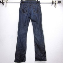 JAMES JEANS HECTOR (26) DARK PACIFIC BLUE STRETCH BOOT CUT JEANS 27x35 D... - $14.82