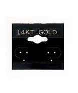 """500 Black 14K Gold  2"""" Earring Cards Hanging Jewelry Display Card - $31.50"""