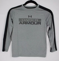 Under Armour youth kids loose heat gear long sleeve t-shirt gray size YX... - $13.78