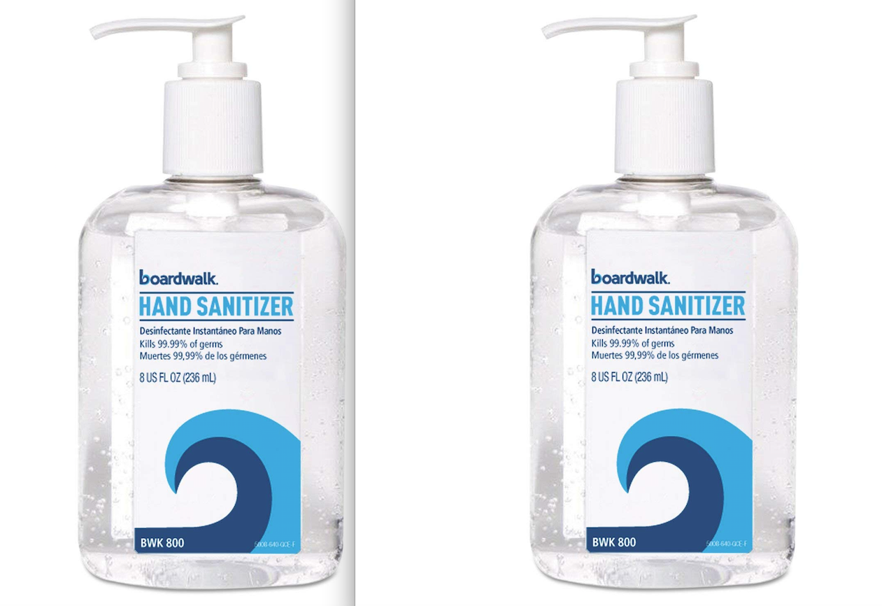 Primary image for NEW 2 Pack Hand Sanitizer 8 oz. Each BWK800 Kills 99.99% of Germs, 70% Alcohol
