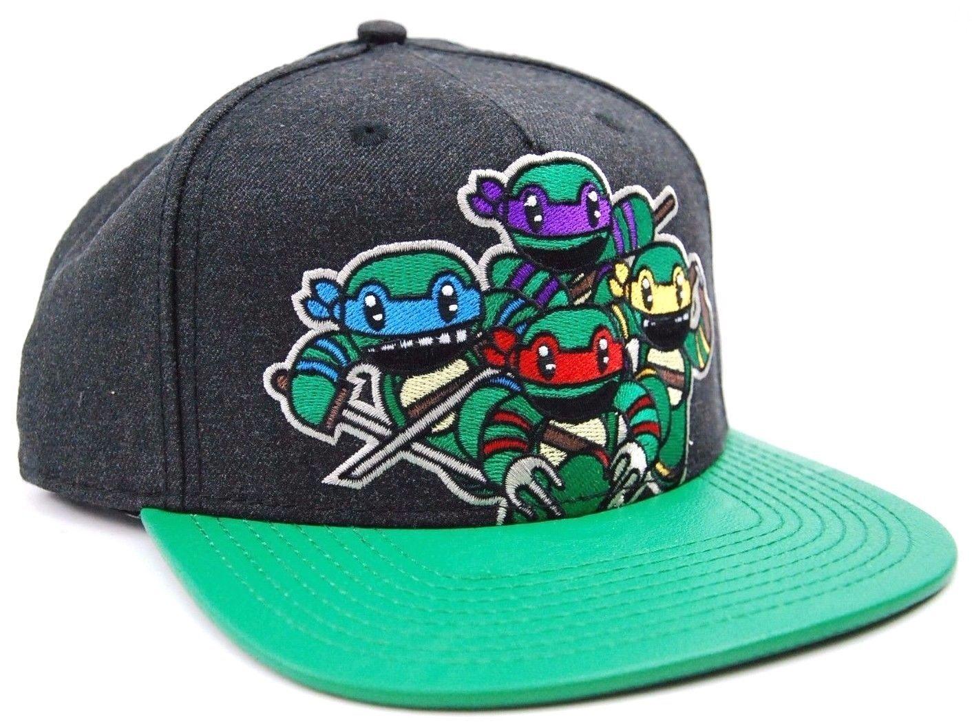 Nickelodeon Teenage Mutant Ninja Turtles Attack Textured Bill Snapback Cap Hat