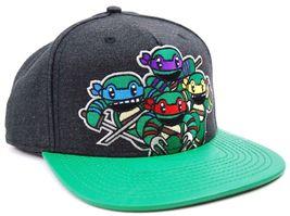 Nickelodeon Teenage Mutant Ninja Turtles Attack Textured Bill Snapback Cap Hat image 3