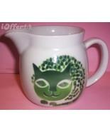 SCANDINAVIAN(FINNISH) MODERN-ARABIA GREEN CAT (KISSA) CREAMER / PITCHER - $52.45