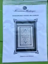 Hardanger Embroidery Pattern - Shakespeare's Sonnet #18 Sampler Lynne He... - $18.81