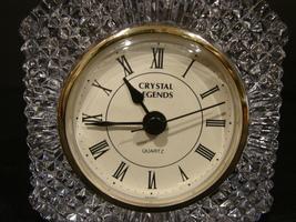 """Crystal Legends By Godinger """"Jubilee"""" Quartz Desk Clock ( 24% Lead Crystal) - $15.99"""