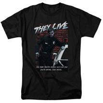 They Live t-shirt Retro 80's Sci-Fi horror 100% cotton graphic tee UNI970 image 1