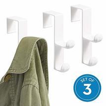 iDesign Over the Door Plastic Dual Hook Hanger for Coats, Jackets, Hats, Robes,  image 2