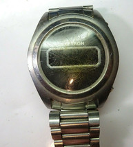 Exetron Vintage 1970'S Lcd Field Effect Watch For Restoration With Original Band - $188.67