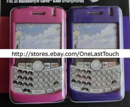 TECH HEADQUARTERS 2pc Case for BLACKBERRY CURVE 8300 Pink+Purple HARD SH... - $7.90