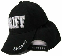 Sheriff Hat Law Enforcement Police Badge Shadow 3D Embroidered Cap - $21.77