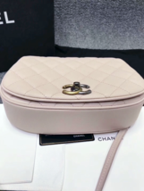 AUTHENTIC CHANEL 2017 PINK QUILTED CAVIAR 2 WAY FLAP BAG NEW image 4