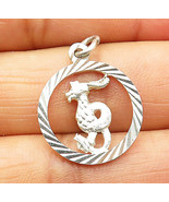 925 Sterling Silver - Petite Dragon Cut Out Round Drop Pendant - P5880 - $17.67