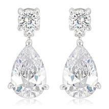 Elegant Cubic Zirconia Drop Earrings - $21.00