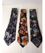 Lot of 3 Baseball American Sports Classics Main St City One Neckties Cla... - $28.01