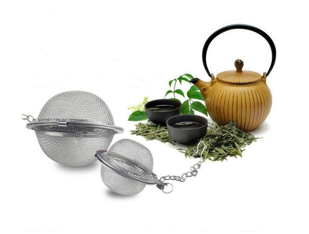Primary image for Tea Infuser Ball Mesh Loose Leaf Herb Strainer Stainless Steel Secure Locking