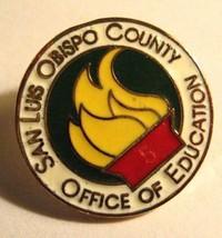 San Luis Obispo County Lapel Pin - California USA Office Of Education Sc... - $19.79