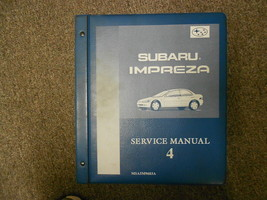 1996 Subaru Impreza Service Manual Volume 4 FACTORY OEM BOOK 96 BINDER - $39.55