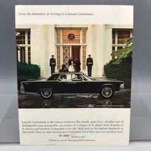 Vintage Magazine Ad Print Design Advertising Lincoln Continental Automobiles - $12.86