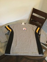 Pittsburgh Steelers Gray NFL Team Apparel Crew Neck Sweatshirt Medium Excellent - $10.93
