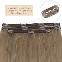 RUNATURE Clip in Human Extensions Real Brazilian Clip Extensions 20 Inches, 3pcs image 5
