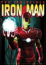 Marvel Comics Invincible Iron Man Holding Ball of Light Refrigerator Magnet NEW - $3.99