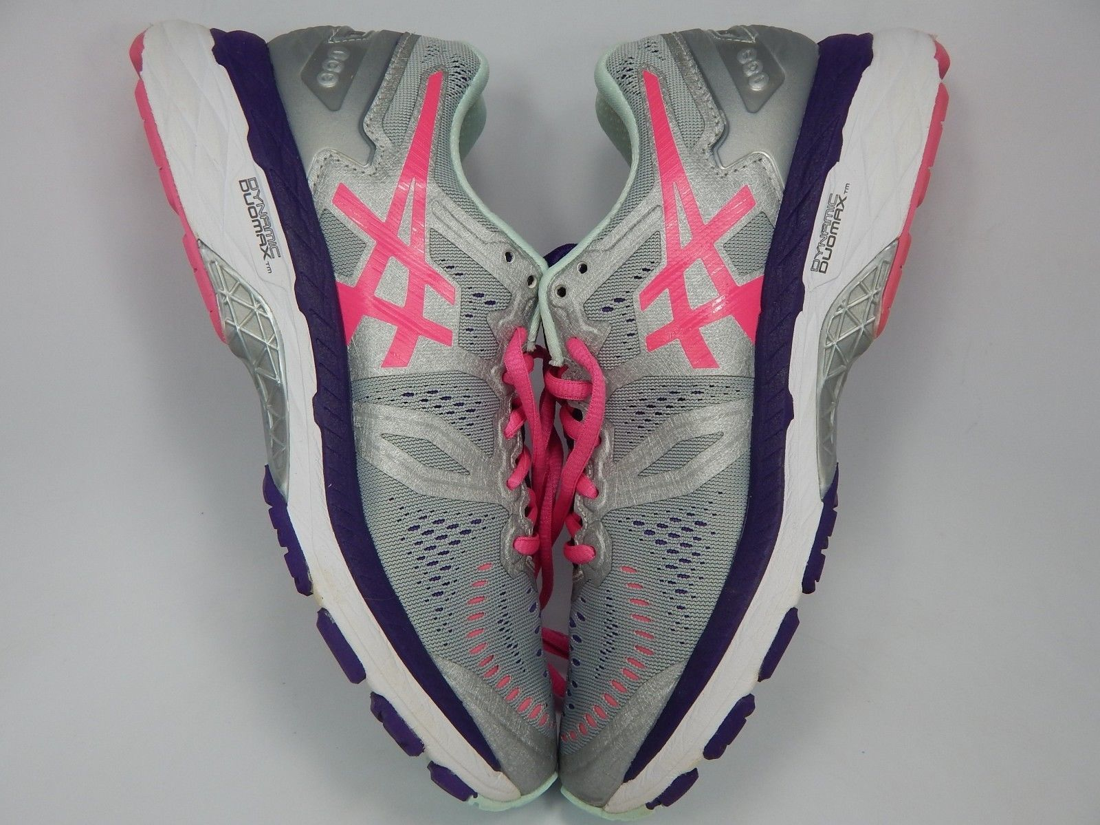 Asics Kayano 23 Size US 8 M (B) EU 39.5 Women's Running Shoes Silver Pink T696N