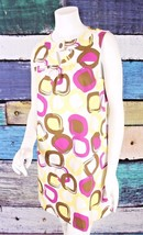Max and Cleo Size 10 BCBG Yellow Purple Mod Retro Shift Dress Career Off... - $24.74