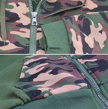 Men's Camo Zip Up Sherpa Hoodie Fleece Hunting Sweater Jacket w/ Defect - 2XL image 3